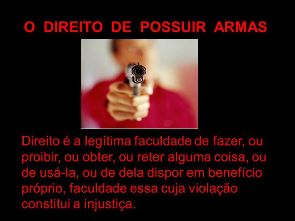 O DIREITO DE POSSUIR ARMAS