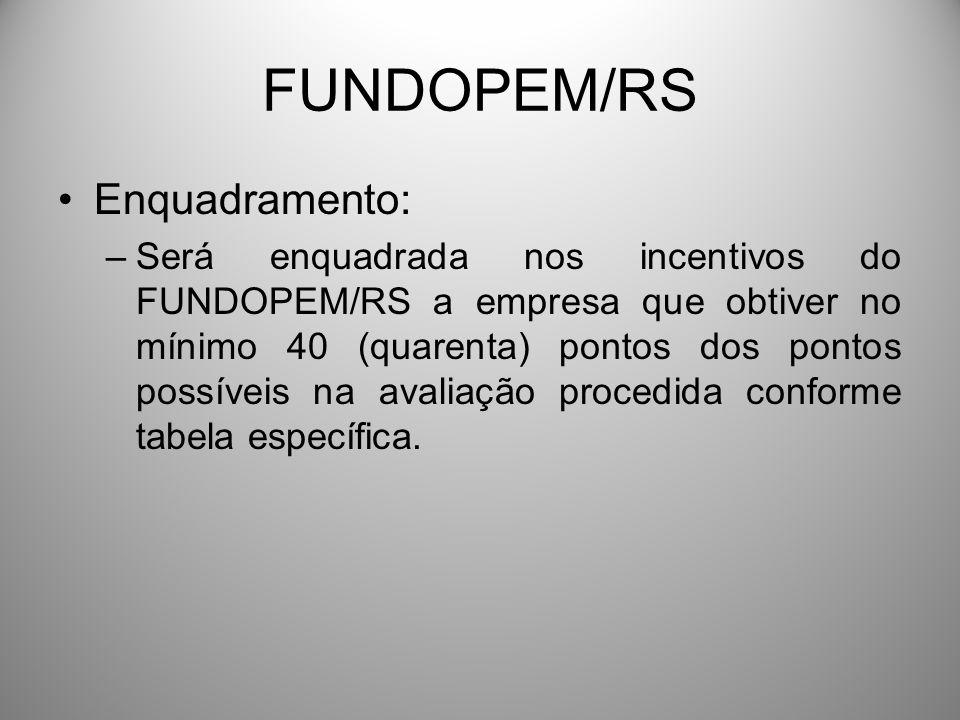 FUNDOPEM/RS Enquadramento: