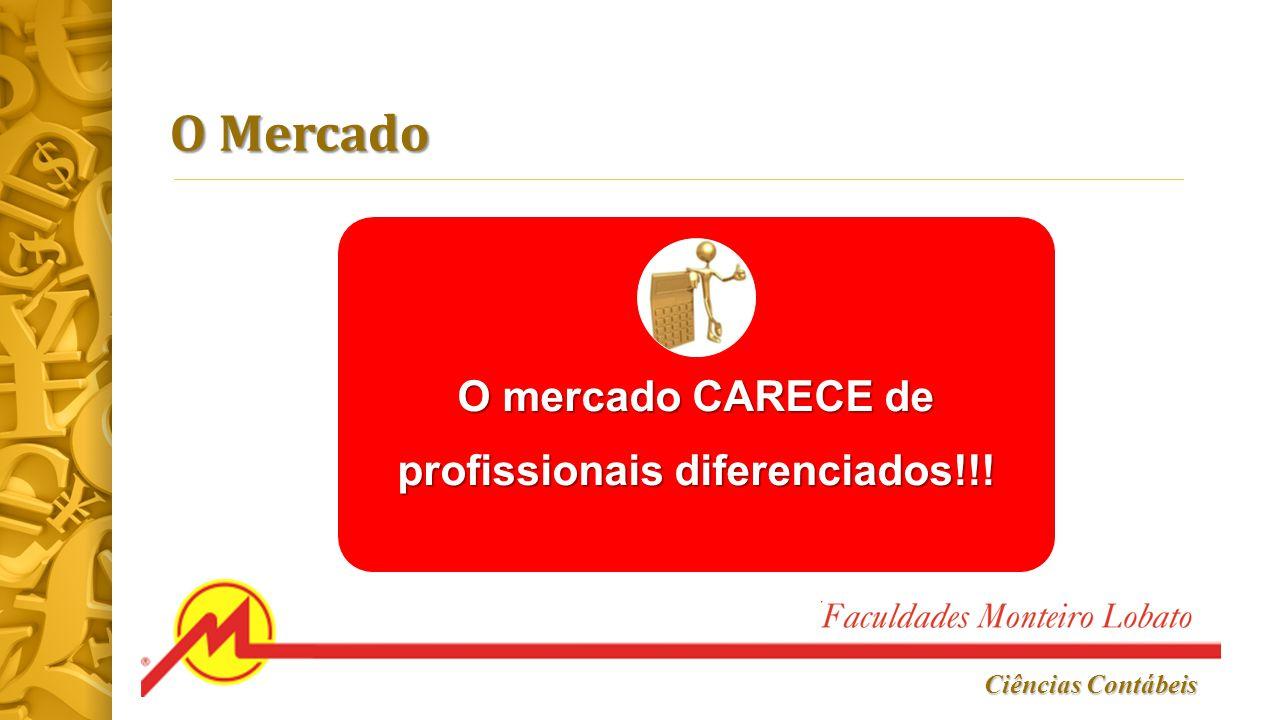 O mercado CARECE de profissionais diferenciados!!!
