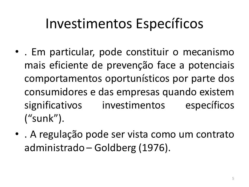 Investimentos Específicos