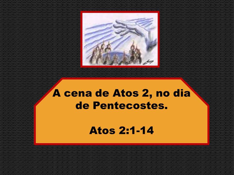 A cena de Atos 2, no dia de Pentecostes.