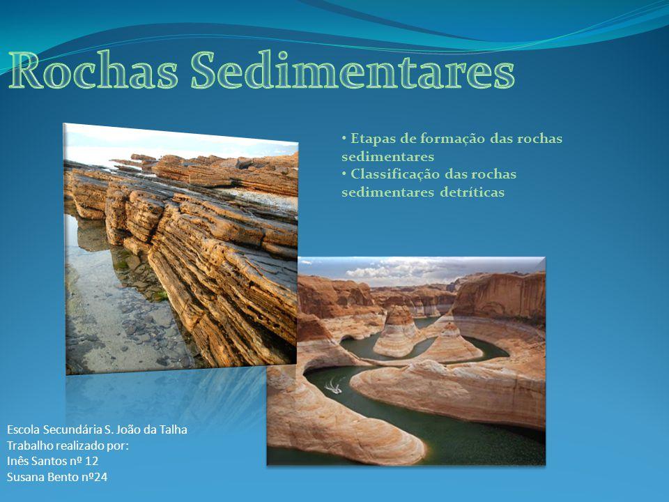 Rochas Sedimentares Etapas de formação das rochas sedimentares