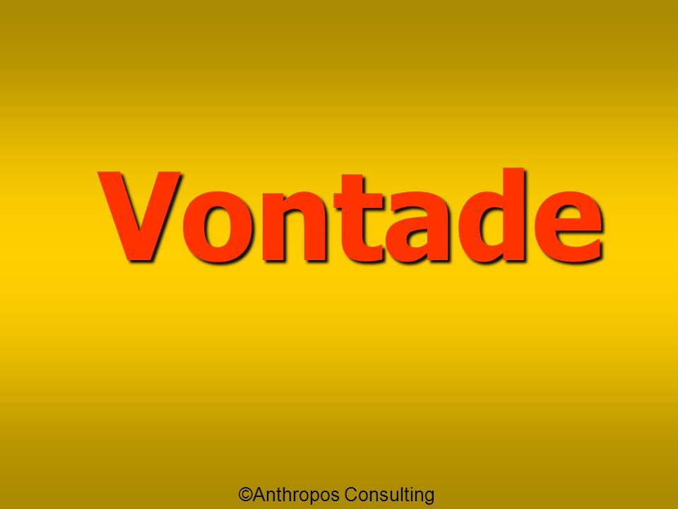 Vontade ©Anthropos Consulting