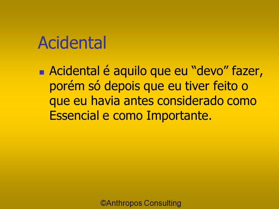 Acidental