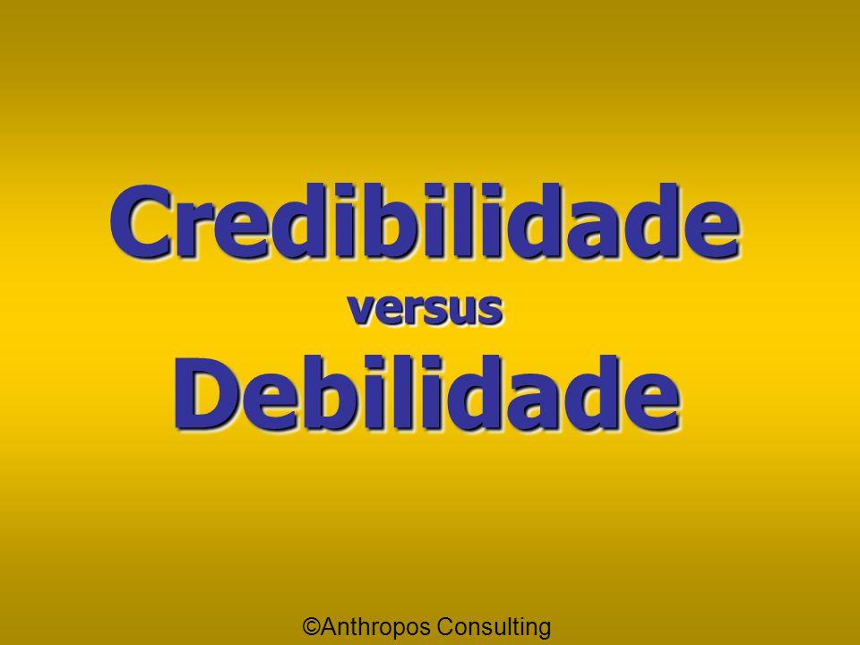 Credibilidade versus Debilidade