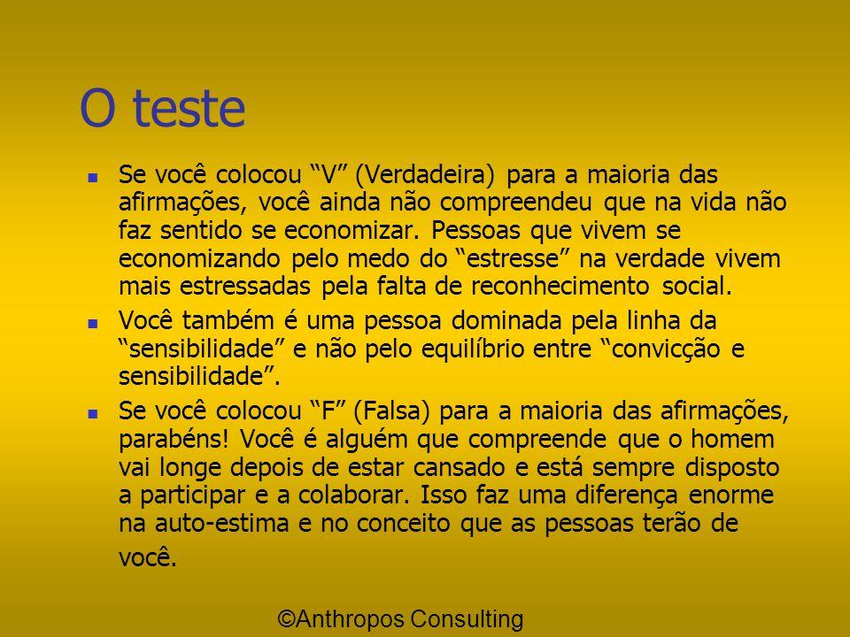 O teste
