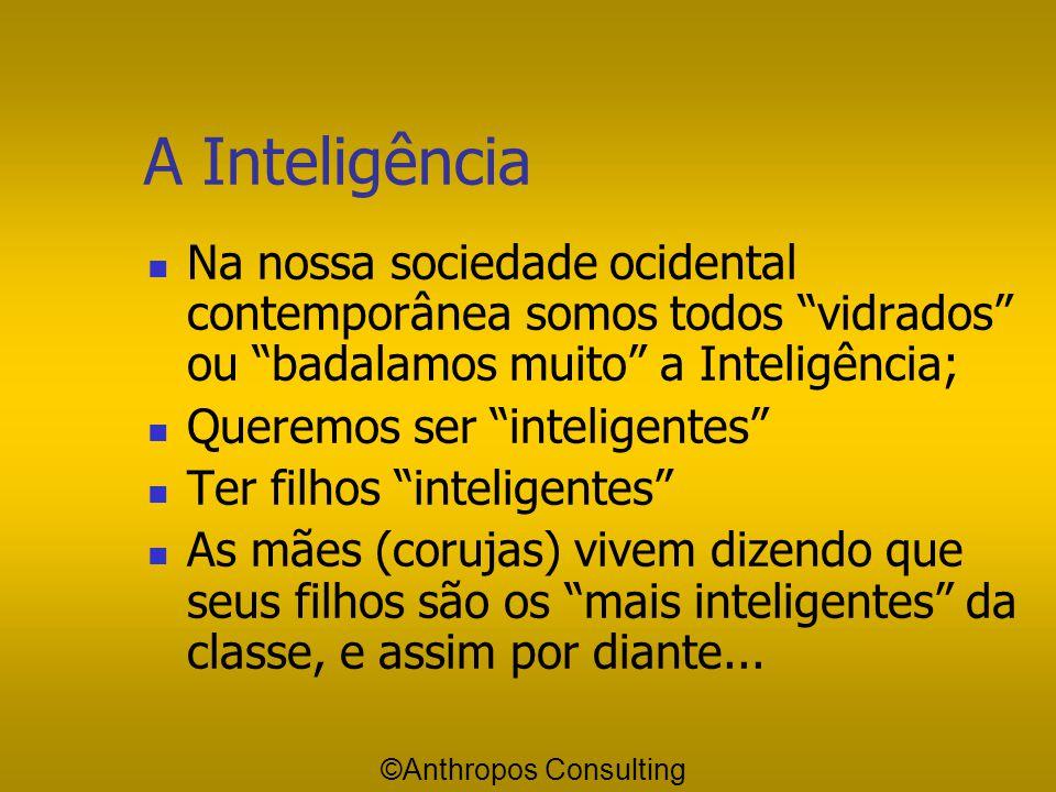 A Inteligência Na nossa sociedade ocidental contemporânea somos todos vidrados ou badalamos muito a Inteligência;