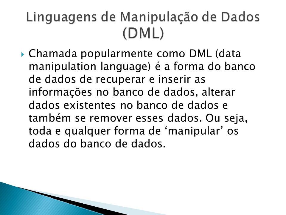 Linguagens de Manipulação de Dados (DML)