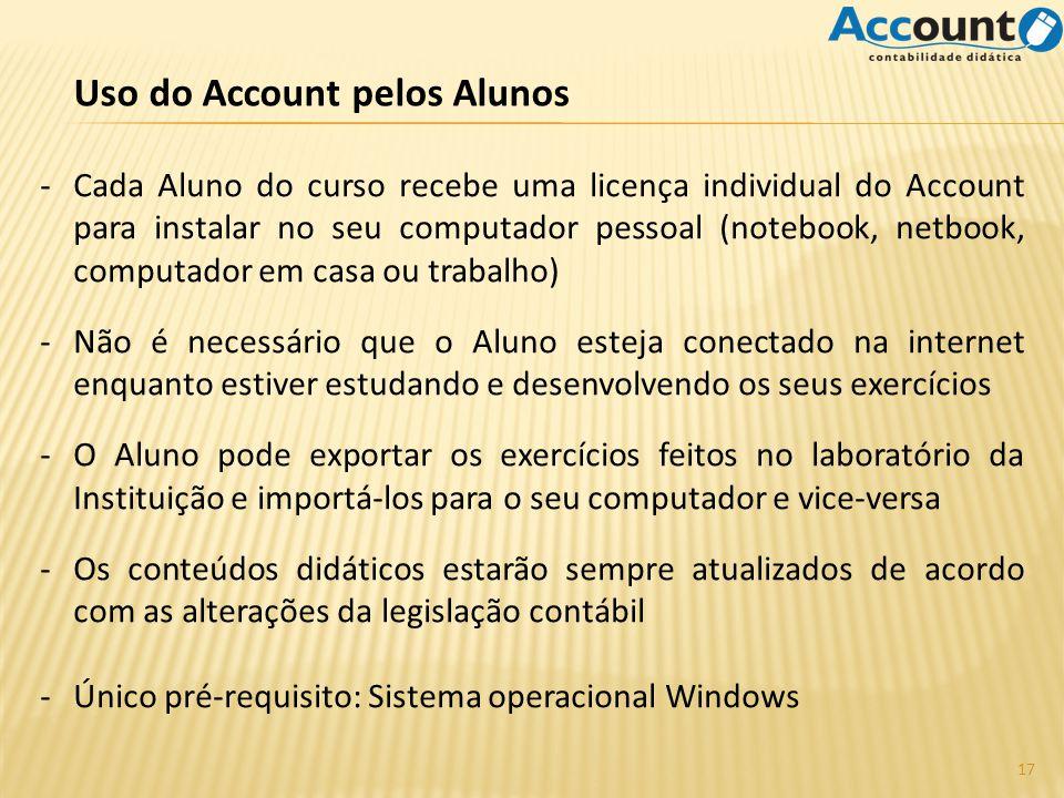 Uso do Account pelos Alunos