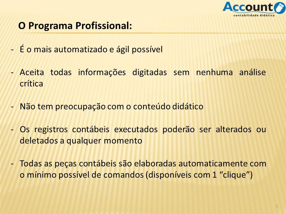 O Programa Profissional: