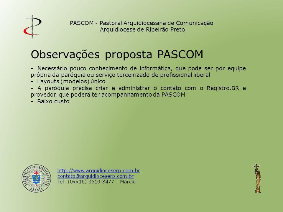 Observações proposta PASCOM