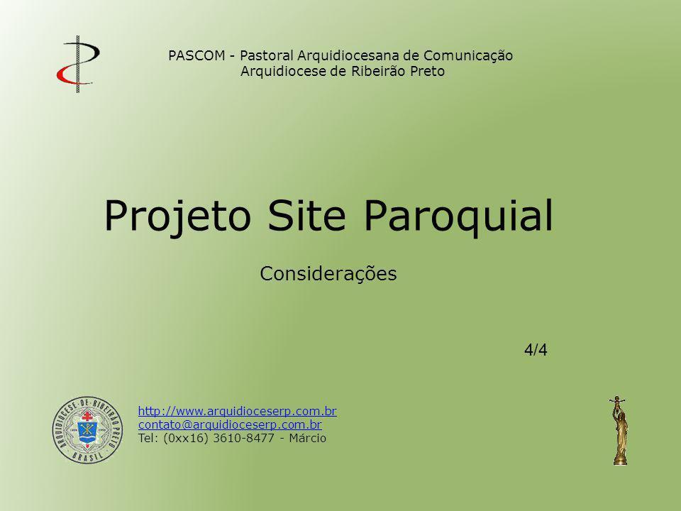 Projeto Site Paroquial