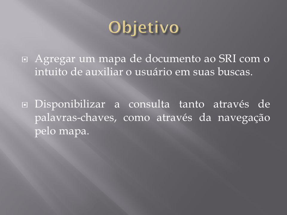 Objetivo Agregar um mapa de documento ao SRI com o intuito de auxiliar o usuário em suas buscas.