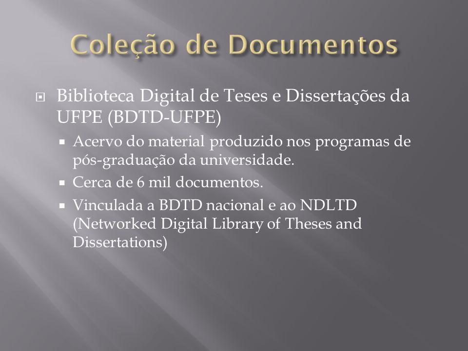 Coleção de Documentos Biblioteca Digital de Teses e Dissertações da UFPE (BDTD-UFPE)