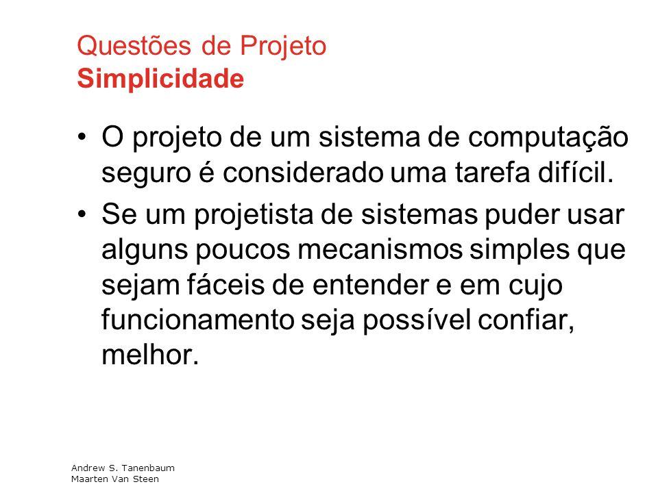 Questões de Projeto Simplicidade