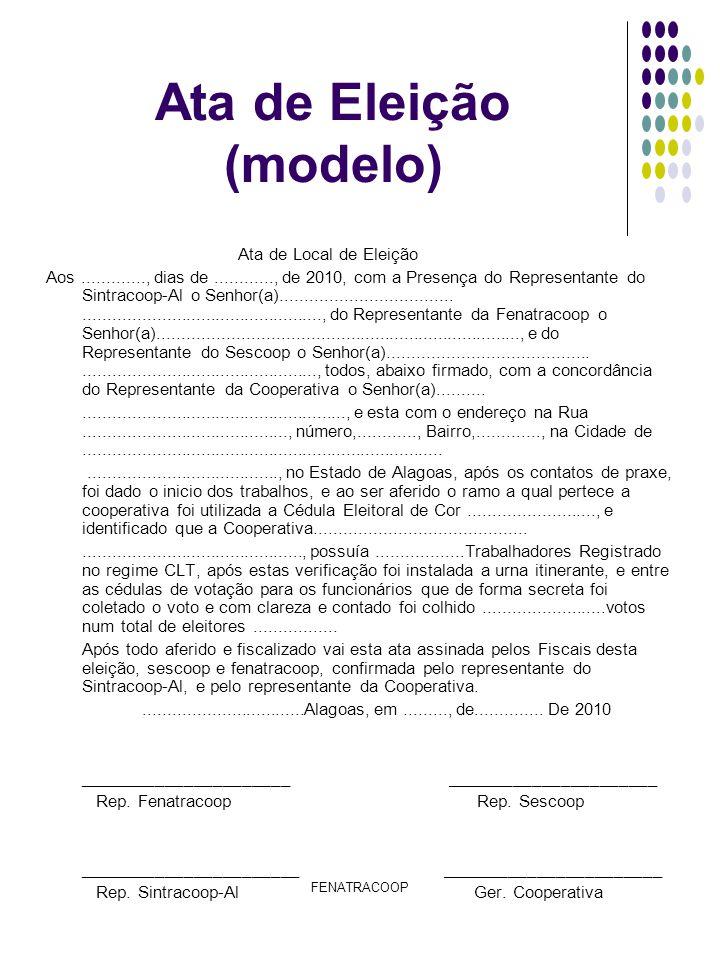 Ata de Eleição (modelo)