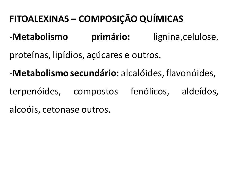 FITOALEXINAS – COMPOSIÇÃO QUÍMICAS
