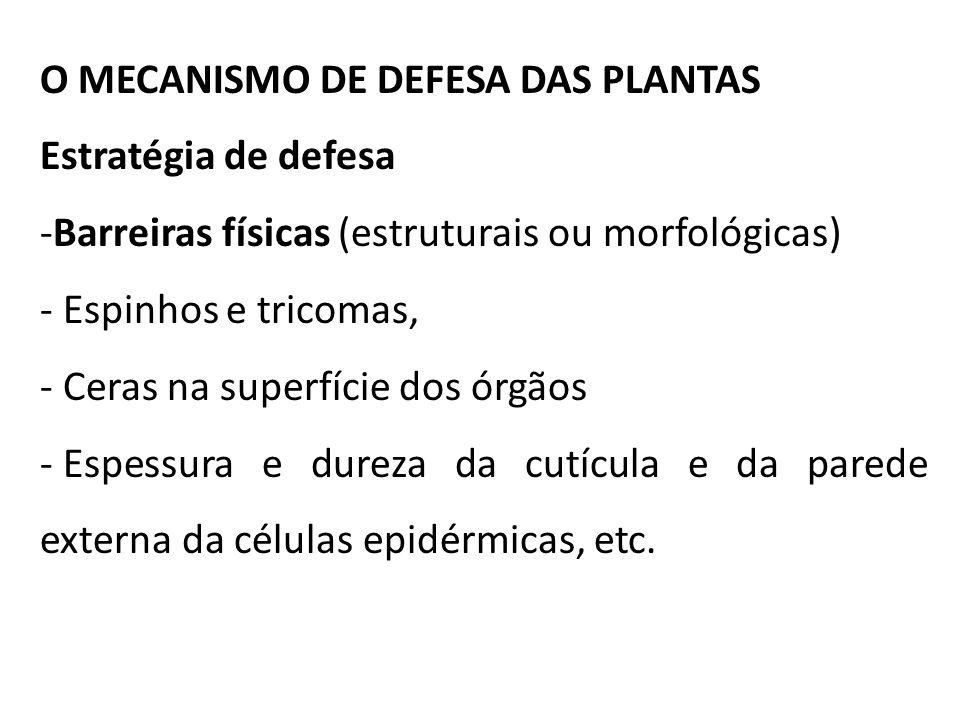 O MECANISMO DE DEFESA DAS PLANTAS
