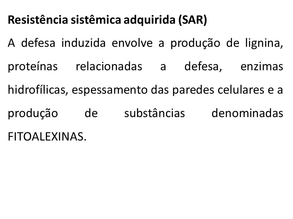 Resistência sistêmica adquirida (SAR)