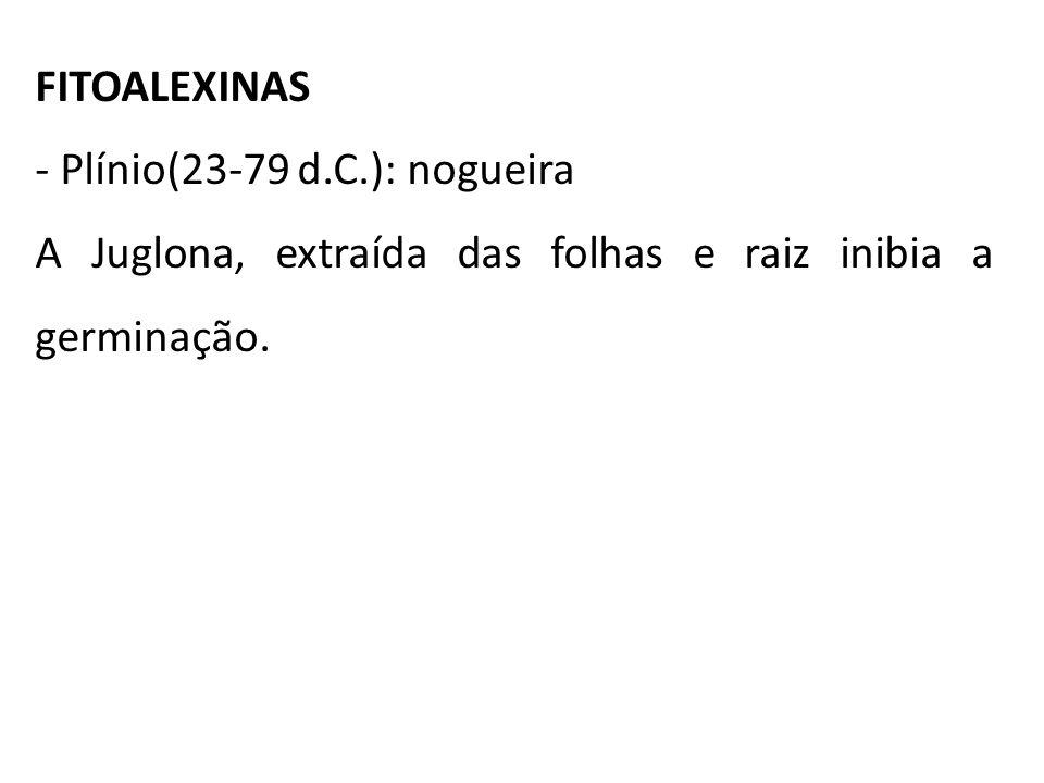 FITOALEXINAS Plínio(23-79 d.C.): nogueira.