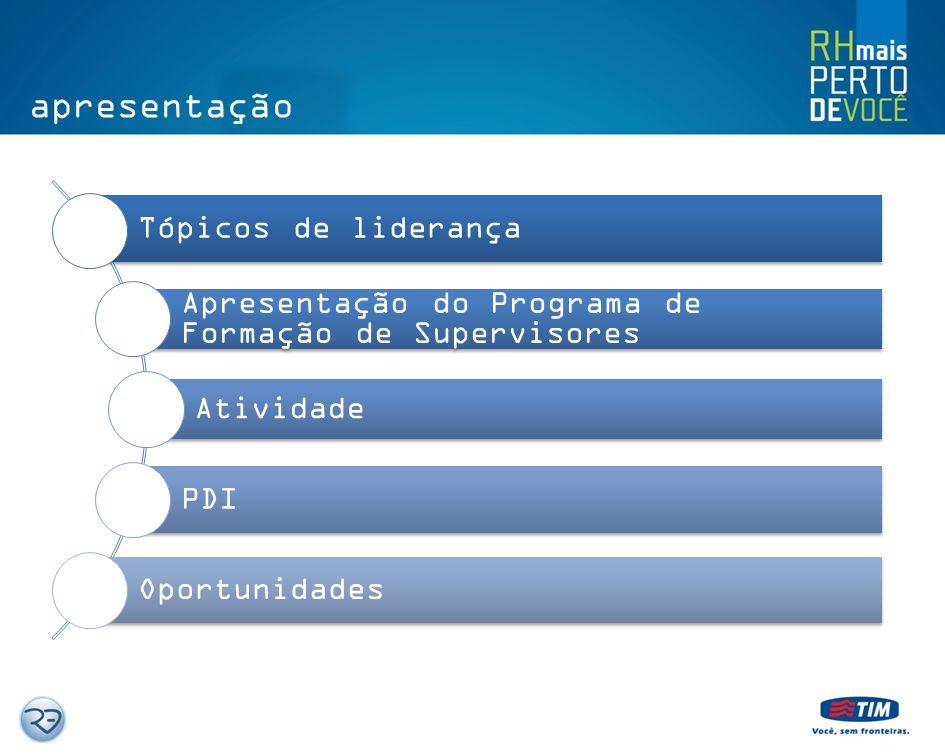 apresentação Tópicos de liderança