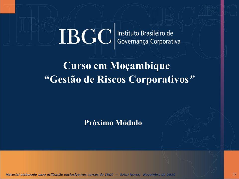 Curso em Moçambique Gestão de Riscos Corporativos