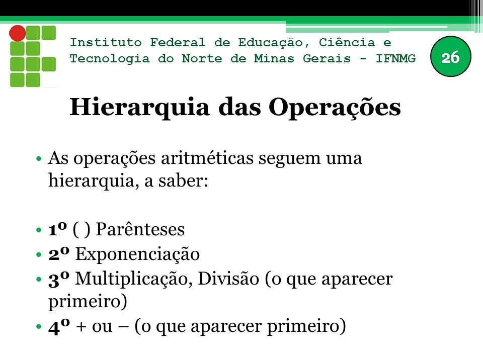 Hierarquia das Operações