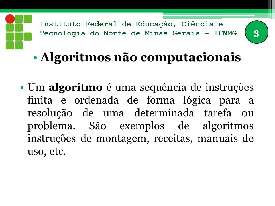 Algoritmos não computacionais