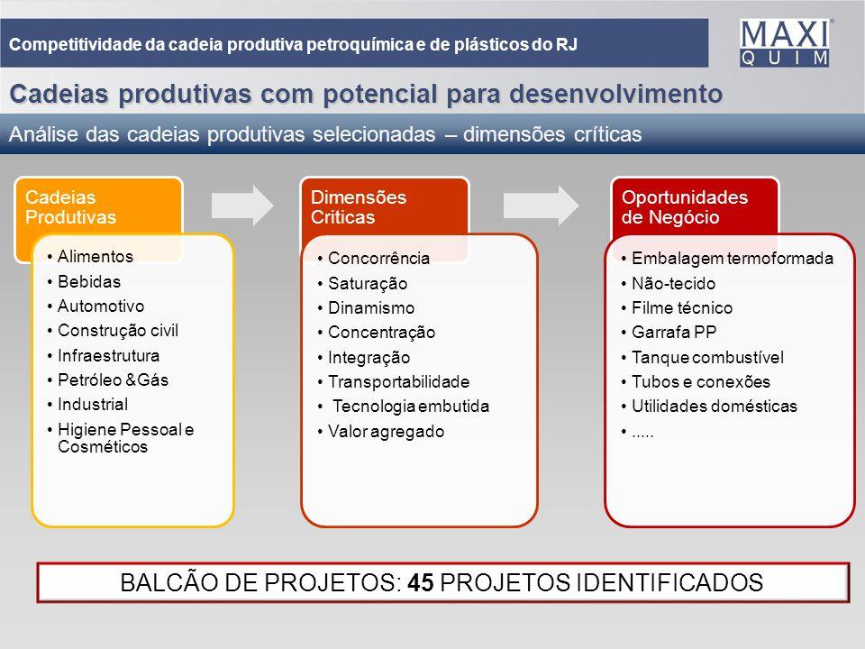 BALCÃO DE PROJETOS: 45 PROJETOS IDENTIFICADOS