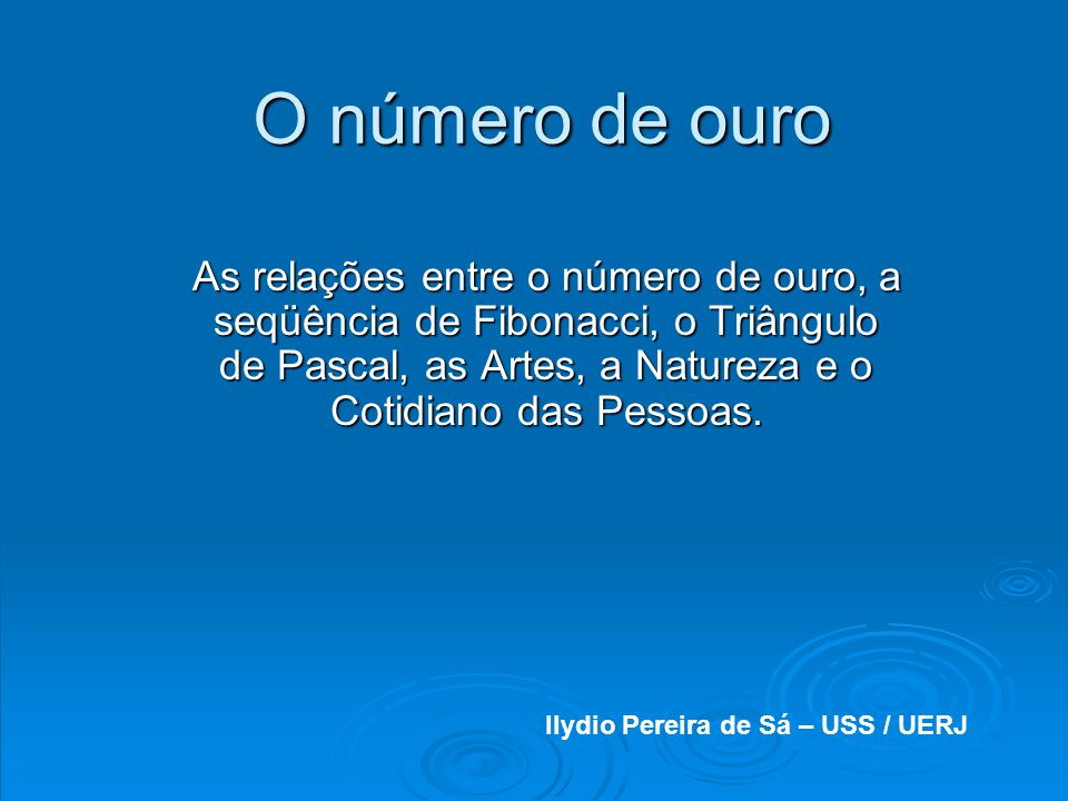 Ilydio Pereira de Sá – USS / UERJ