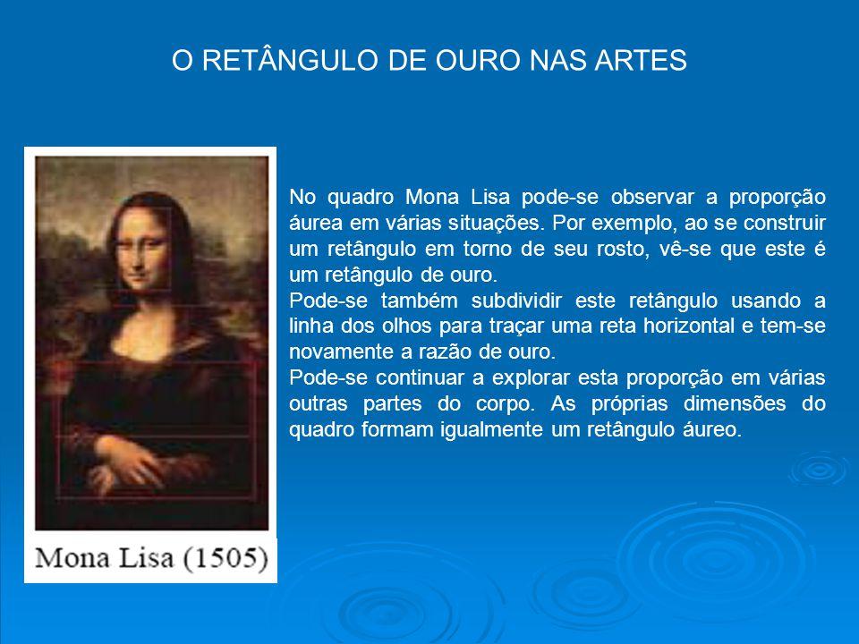 O RETÂNGULO DE OURO NAS ARTES