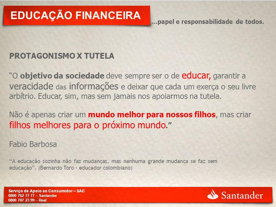 EDUCAÇÃO FINANCEIRA PROTAGONISMO X TUTELA