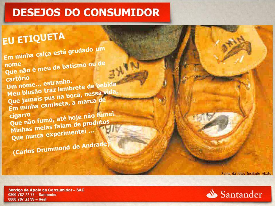 DESEJOS DO CONSUMIDOR