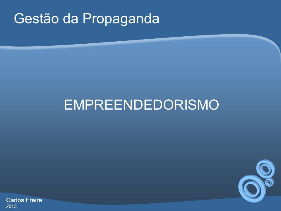 Gestão da Propaganda EMPREENDEDORISMO Carlos Freire 2013