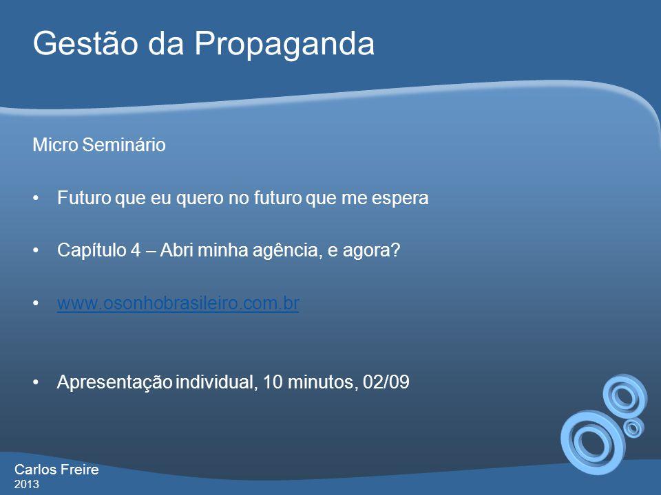 Gestão da Propaganda Micro Seminário