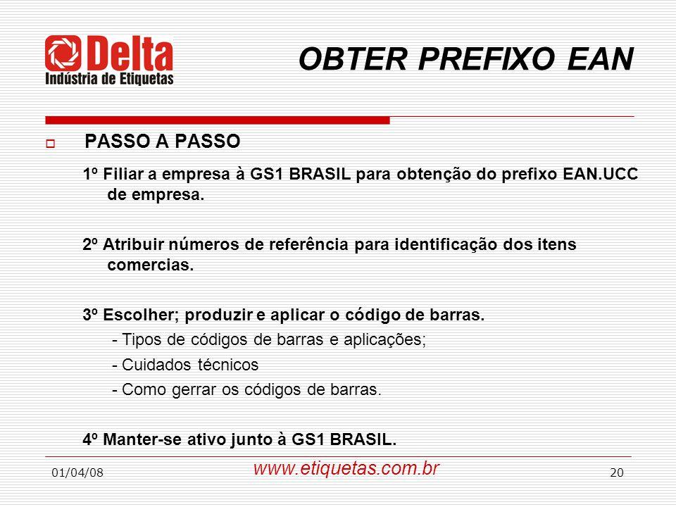 OBTER PREFIXO EAN PASSO A PASSO www.etiquetas.com.br