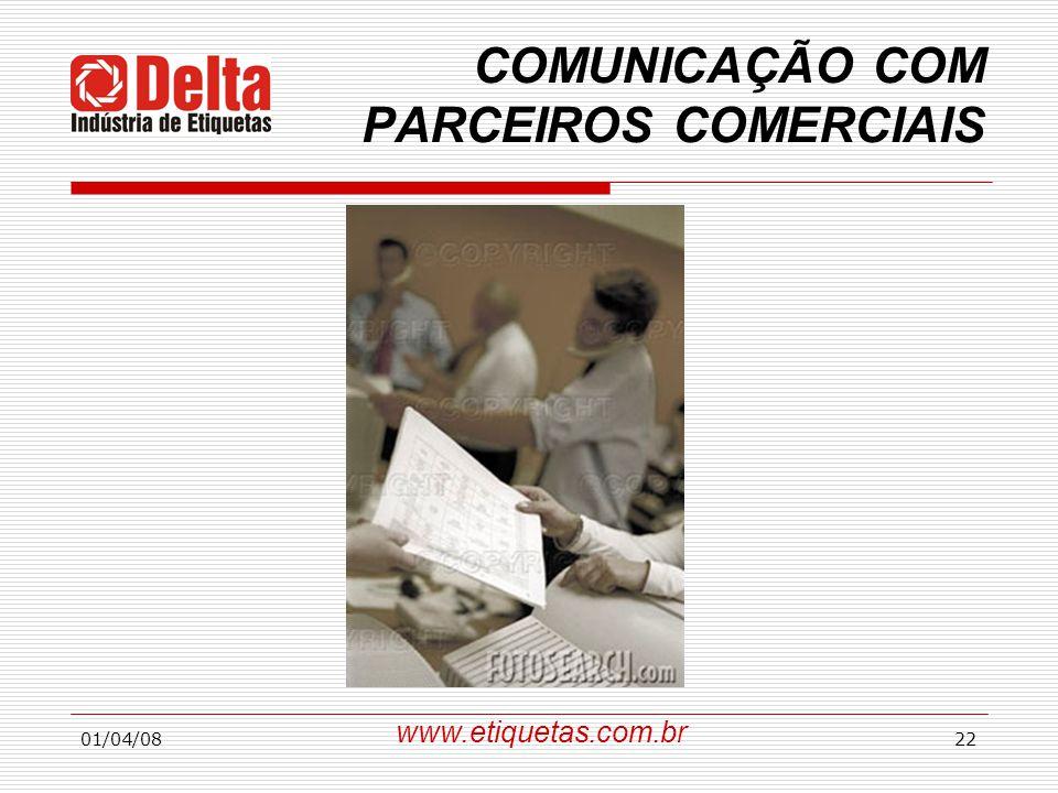 COMUNICAÇÃO COM PARCEIROS COMERCIAIS