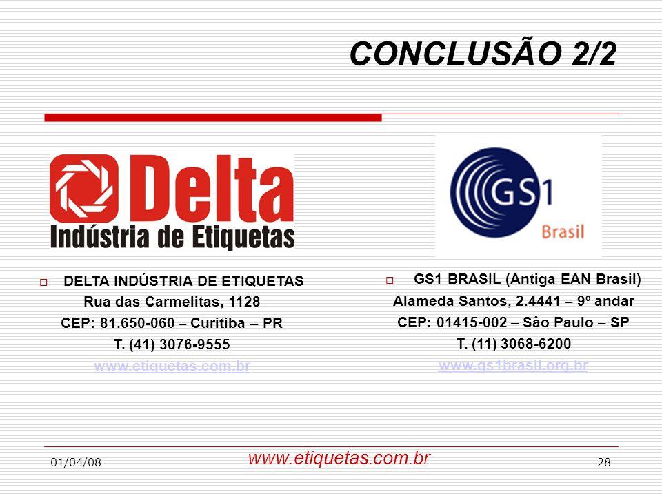 DELTA INDÚSTRIA DE ETIQUETAS Alameda Santos, 2.4441 – 9º andar