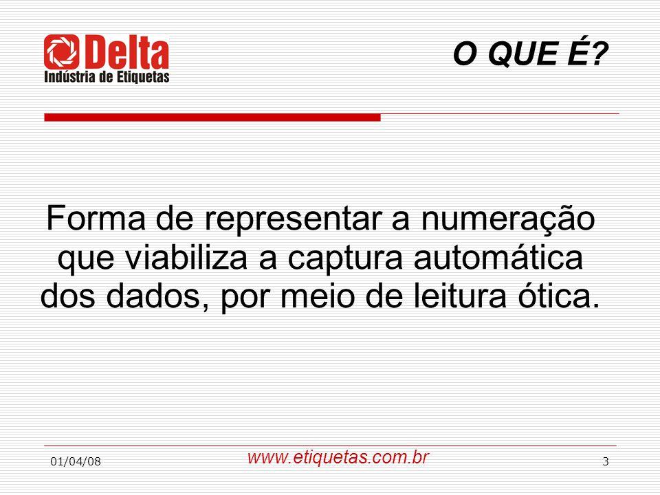Forma de representar a numeração que viabiliza a captura automática