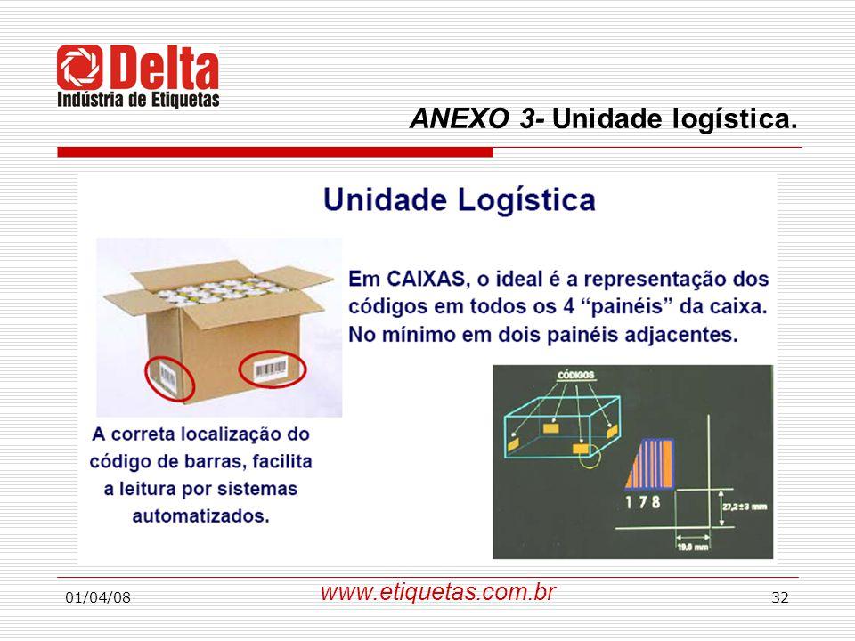 ANEXO 3- Unidade logística.