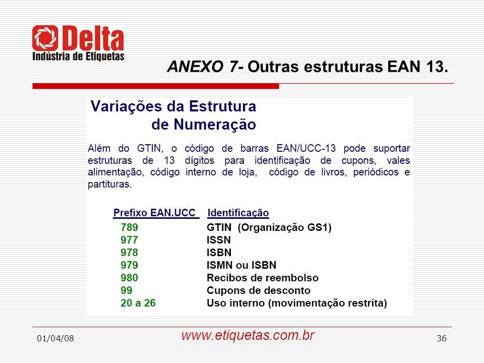 ANEXO 7- Outras estruturas EAN 13.