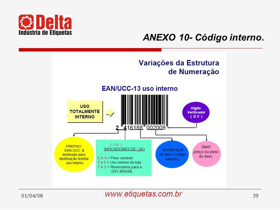 ANEXO 10- Código interno. www.etiquetas.com.br 01/04/08
