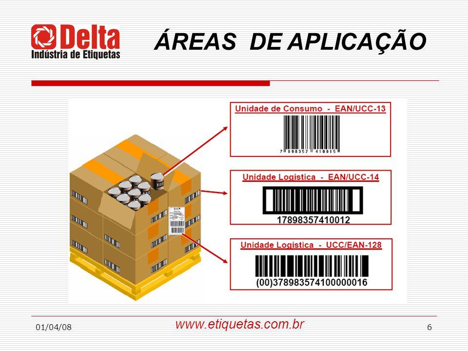 ÁREAS DE APLICAÇÃO www.etiquetas.com.br 01/04/08