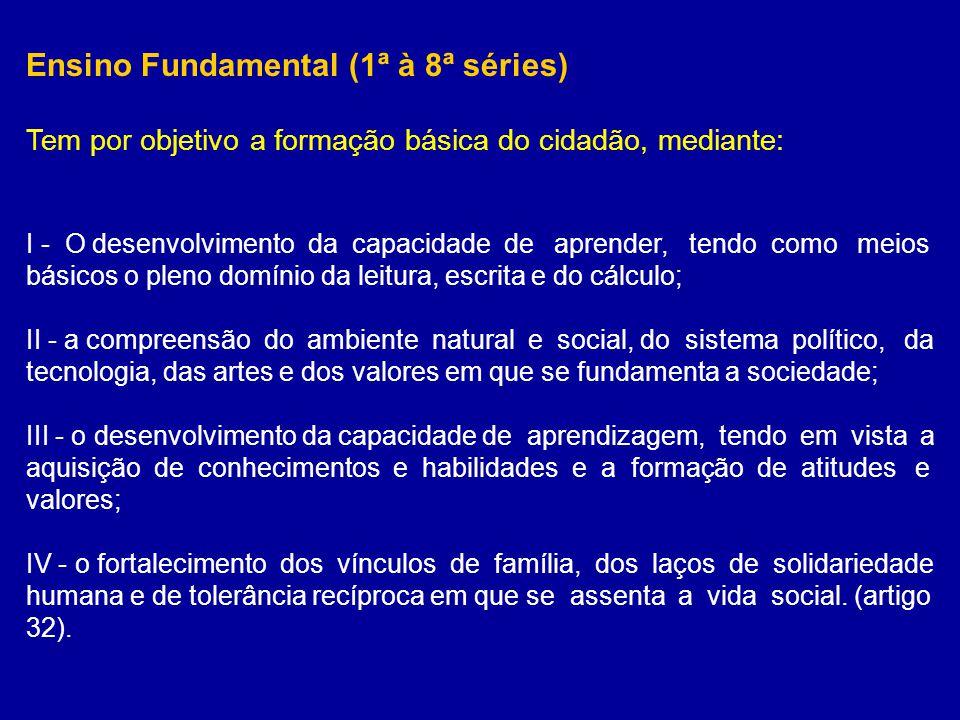 Ensino Fundamental (1ª à 8ª séries)