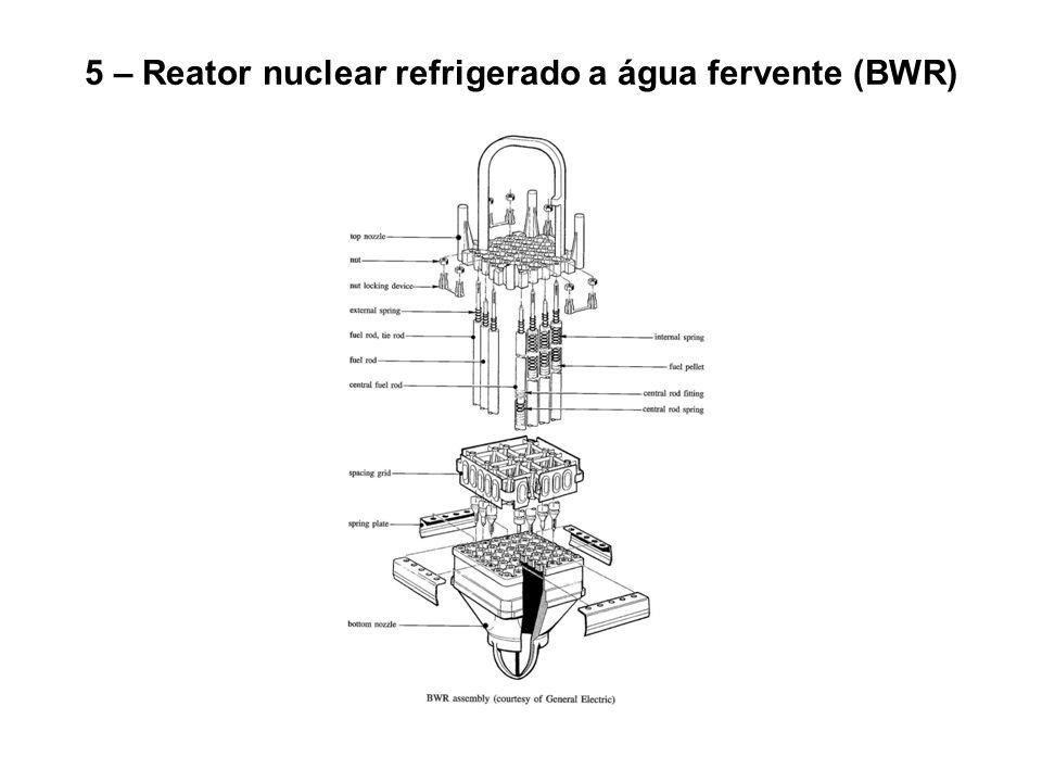 5 – Reator nuclear refrigerado a água fervente (BWR)
