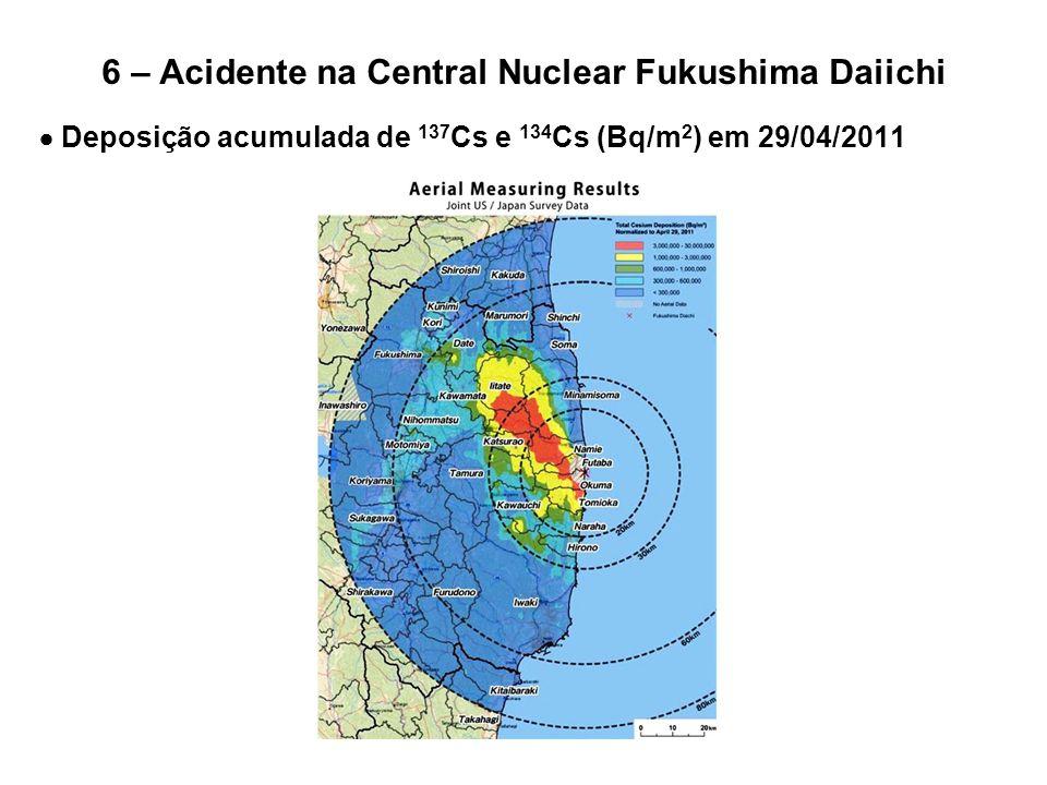 6 – Acidente na Central Nuclear Fukushima Daiichi