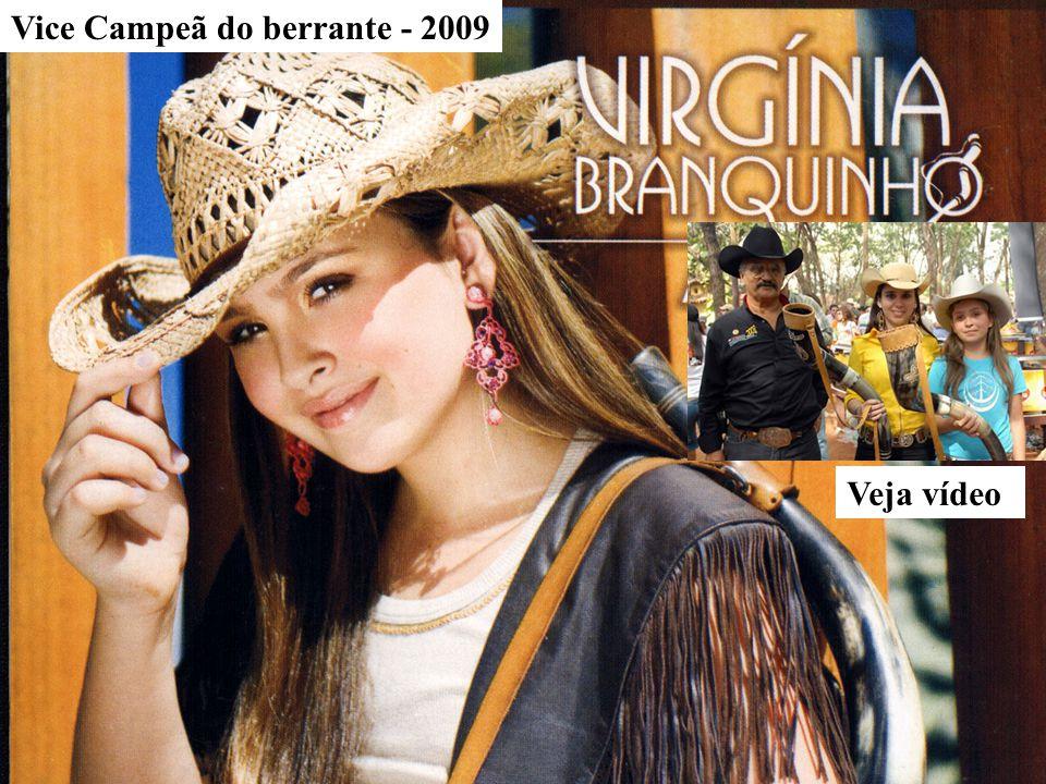 Vice Campeã do berrante - 2009