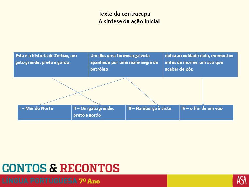 Texto da contracapa A síntese da ação inicial