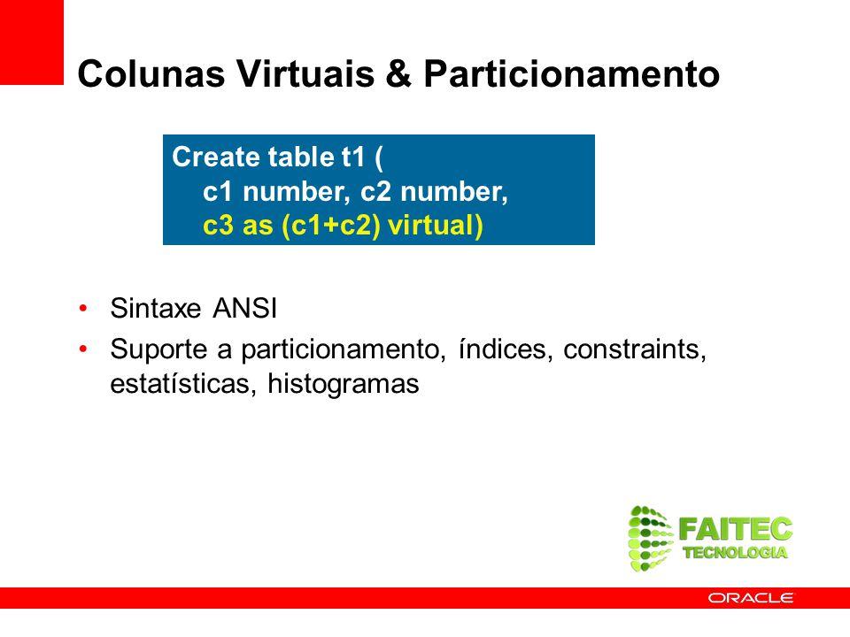 Colunas Virtuais & Particionamento
