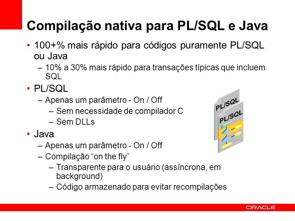 Compilação nativa para PL/SQL e Java